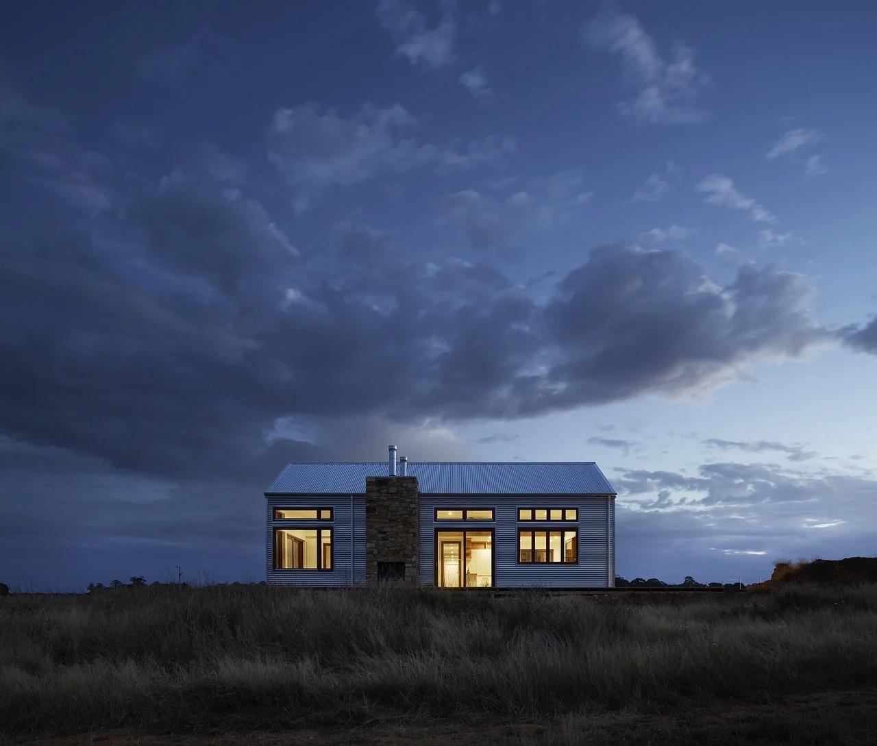 Domek v noci