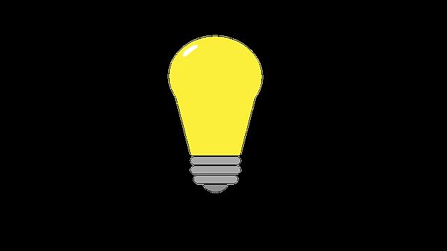 svítící žárovka – ilustrace