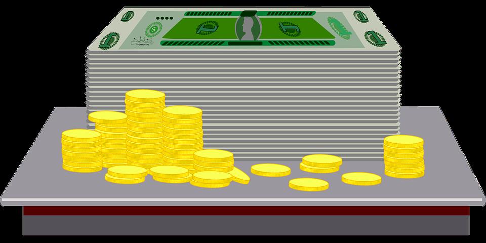 kreslené peníze
