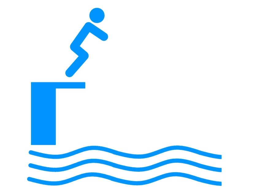 skok do bazénu